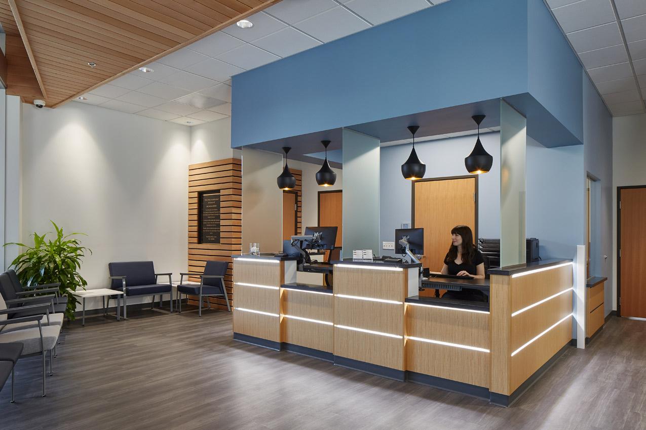 WesternU Clinic Oliver Station reception desk