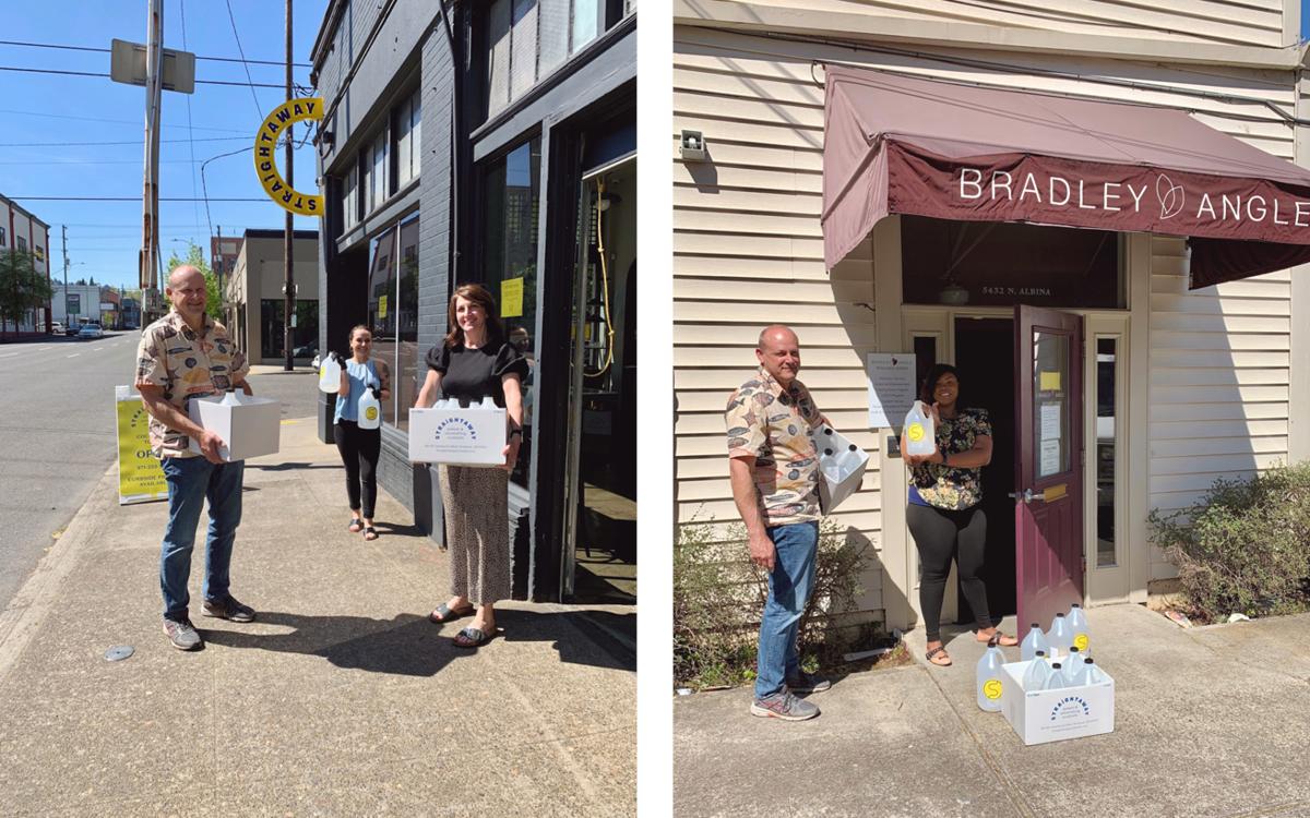 Soderstrom Bradley Angle hand sanitizer donation