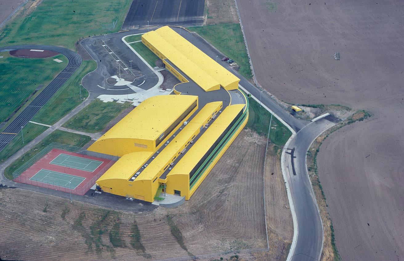 Pendleton Junior High aerial Soderstrom